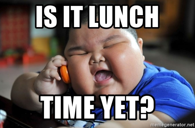 Fat Asian Kid - Is it Lunch time yet?