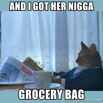 rich cat  - and i got her nigga grocery bag