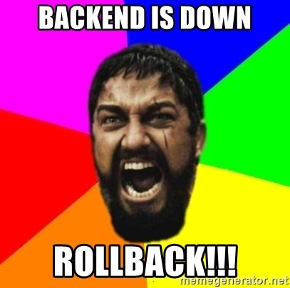 sparta - Backend is down Rollback!!!