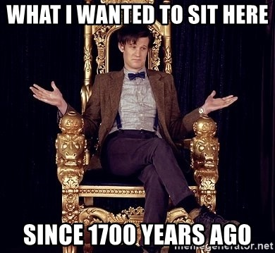 Hipster Doctor Who - What I wanted to sit here  since 1700 years ago