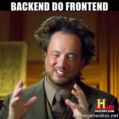 History guy - Backend do Frontend