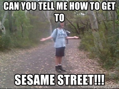 Courtland Walking Back  - Can you tell me how to get to Sesame Street!!!
