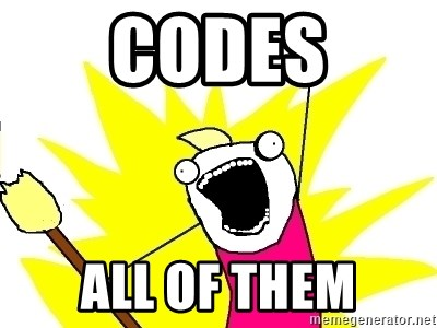 X ALL THE THINGS - codes all of them