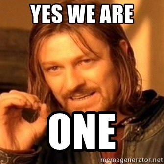 One Does Not Simply - Yes We ARE  ONE