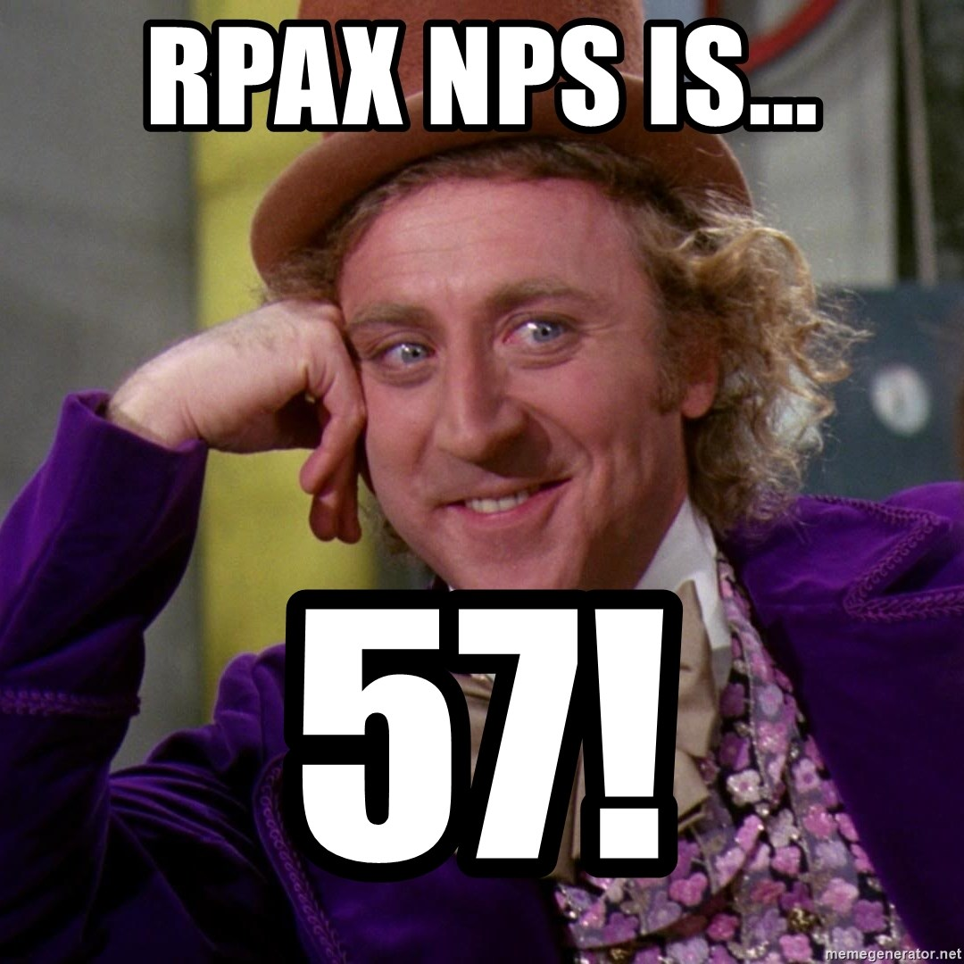 Willy Wonka - RPAx NPS is... 57!