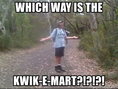 Courtland Walking Back  - Which way is the Kwik-e-mart?!?!?!