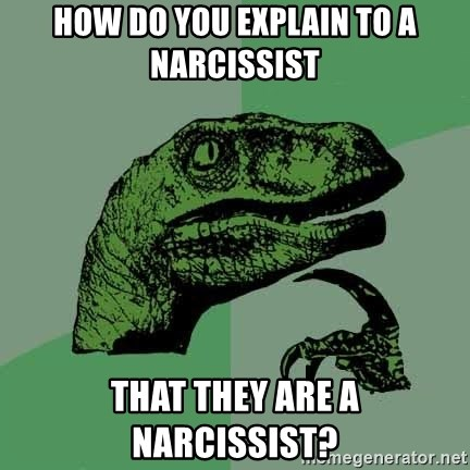Raptor - How do you explain to a narcissist that they are a narcissist?