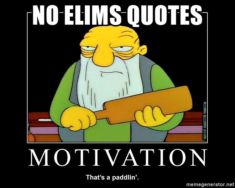 Thats a paddlin - No ELIMS Quotes