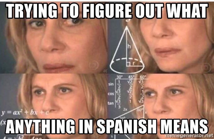 Confused Math Lady  - trying to figure out what anything in spanish means