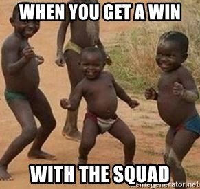 african children dancing - When you get a win  with the squad