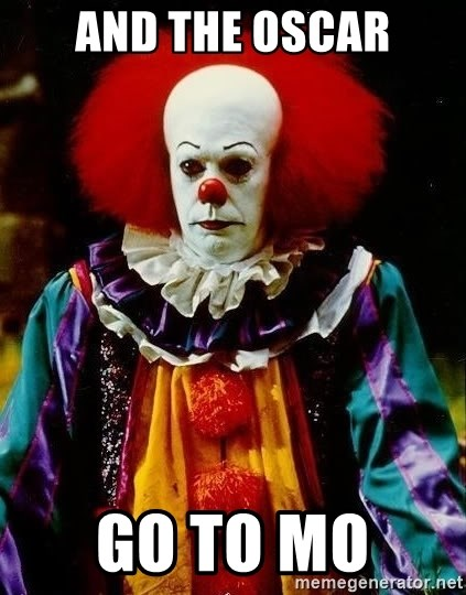 it clown stephen king - And the oscar Go to mo