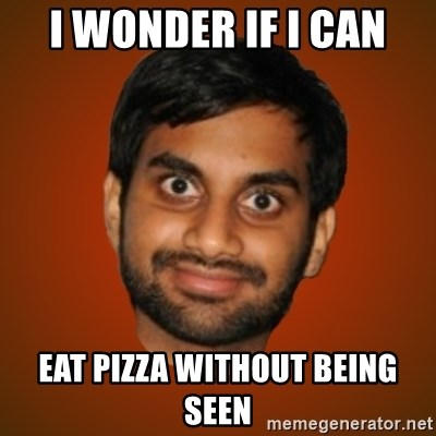 Generic Indian Guy - i wonder if i can eat pizza without being seen