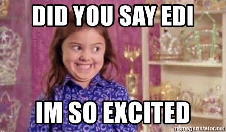 Girl Excited & Trolling - did you say edi im so excited