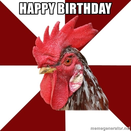 Roleplaying Rooster - Happy Birthday