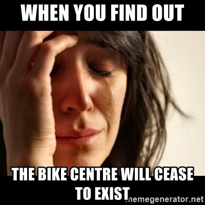 crying girl sad - when you find out  the bike centre will cease to exist
