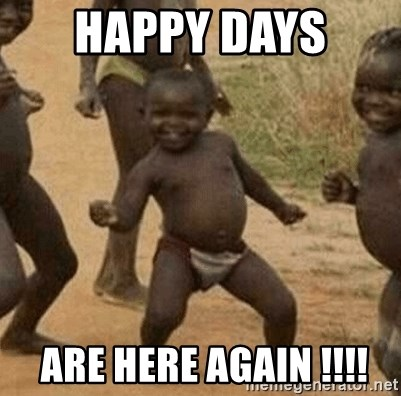Success African Kid - HAPPY Days   Are here again !!!!