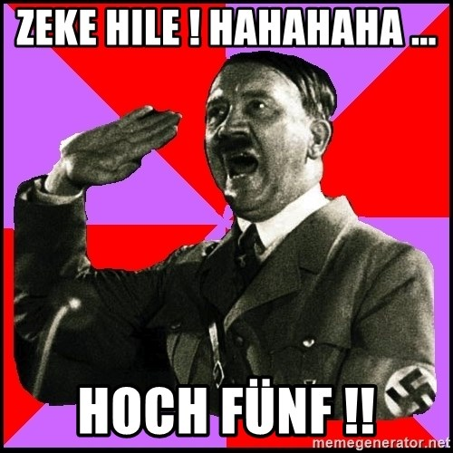 High five Girl - Zeke hile ! Hahahaha ... Hoch fünf !!