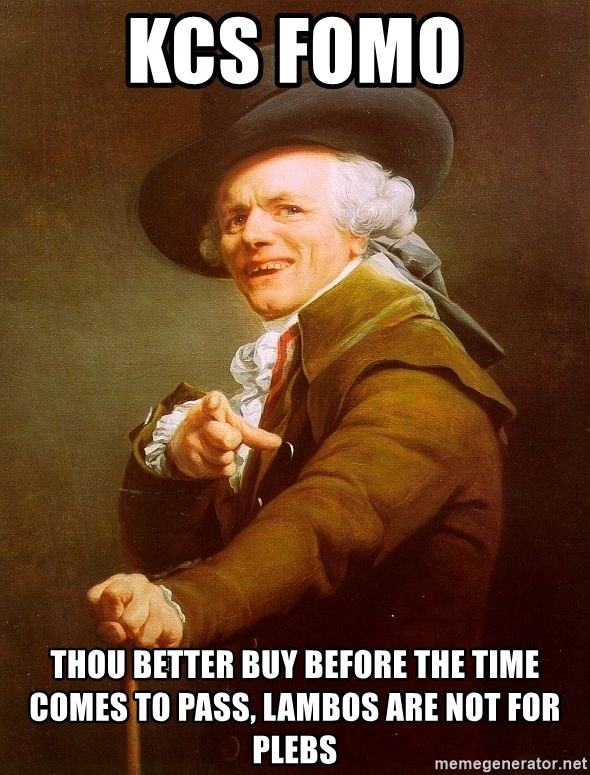 Joseph Ducreux - KCS FOMO Thou better buy before the time comes to pass, lambos are not for plebs