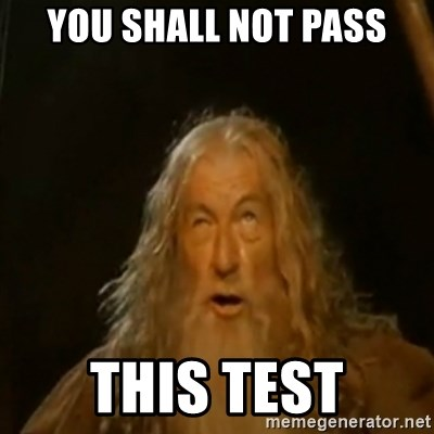 Gandalf You Shall Not Pass - YOU SHALL NOT PASS This test