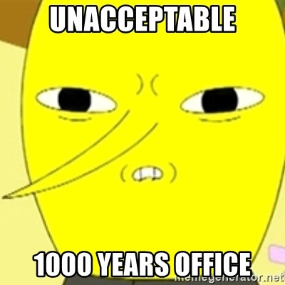 LEMONGRAB - unacceptable 1000 years office