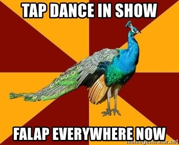 Thespian Peacock - Tap dance in show Falap everywhere now