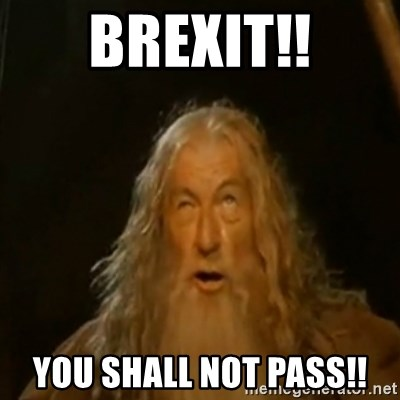 Gandalf You Shall Not Pass - Brexit!! You Shall not PASS!!