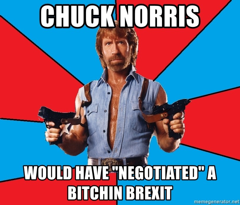 """Chuck Norris  - chuck norris would have """"negotiated"""" a bitchin brexit"""
