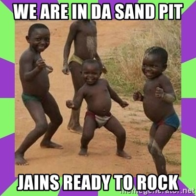 african kids dancing - We are in da Sand Pit Jains ready to rock
