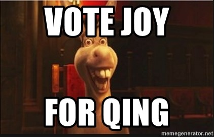 Shrek 2 Donkey - vote joy  for qing