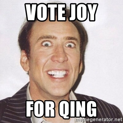 Creepy Smiling Cage  - vote joy  for qing