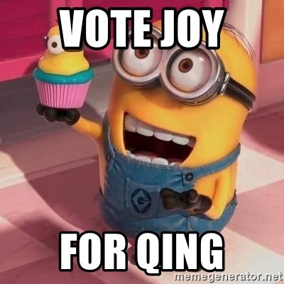 Happy Birthday Cora - vote joy  for qing