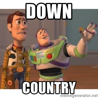 Toy story - down country