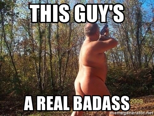 naked man - this guy's a real badass