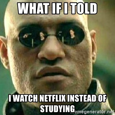 What If I Told You - what if i told i watch netflix instead of studying
