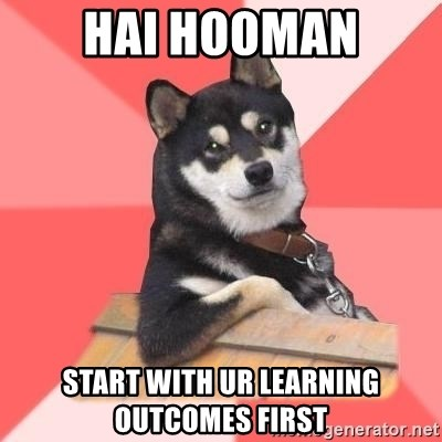 Cool Dog - Hai Hooman Start with ur learning outcomes first