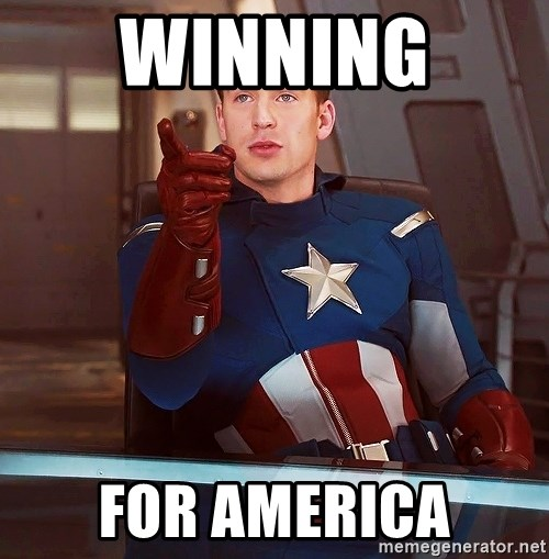 captain america i understood that reference - Winning  For America