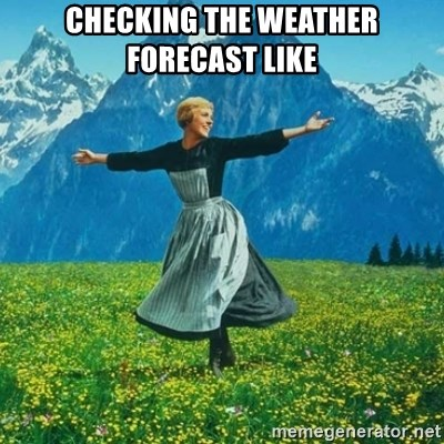 Look at All the Fucks I Give - Checking the weather forecast like