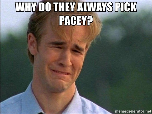 Dawson Crying - Why do they always pick Pacey?
