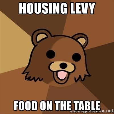 Pedobear - Housing levy Food on the table