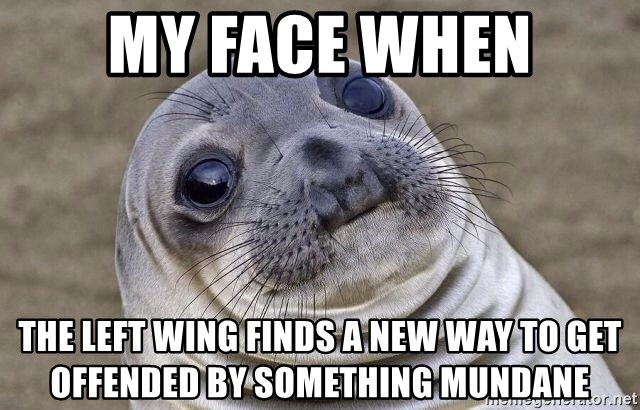 Awkward Seal - My Face When The Left Wing finds a new way to get offended by something mundane