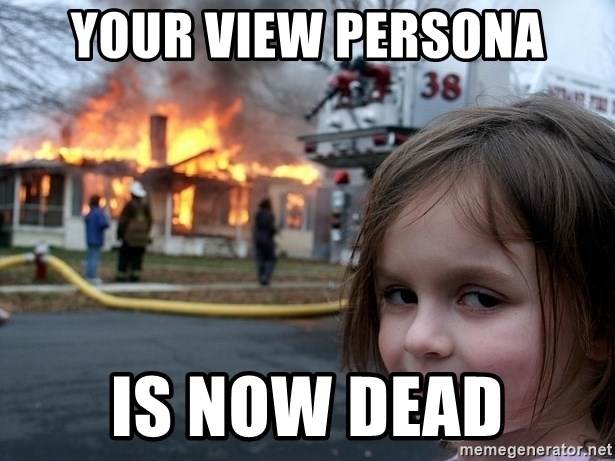 Disaster Girl - Your VIEW Persona Is Now Dead