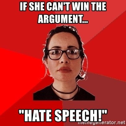 """Liberal Douche Garofalo - If she can't win the argument... """"Hate speech!"""""""