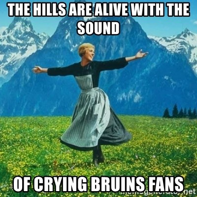 Look at All the Fucks I Give - The hills are alive with the sound  Of crying Bruins fans