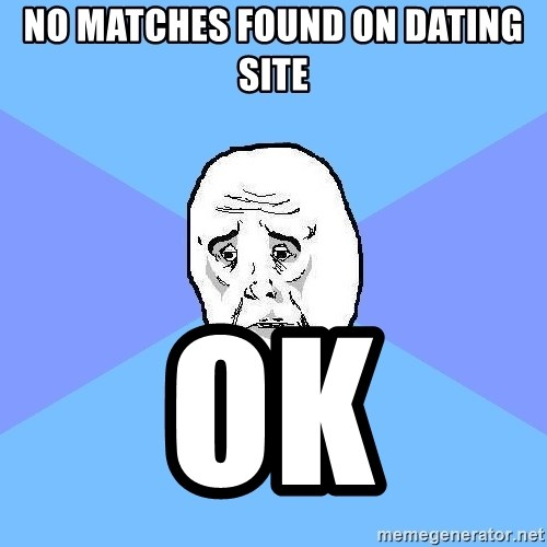 Okay Guy - no matches found on dating site ok