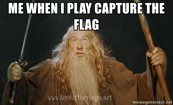 You shall not pass - Me when i play capture the flag