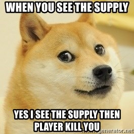 Dogeeeee - When YOU SEE THE SUPPLY YES I SEE THE SUPPLY THEN  PLAYER KILL YOU