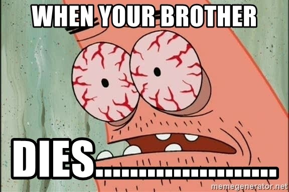Patrick - when your brother dies.....................