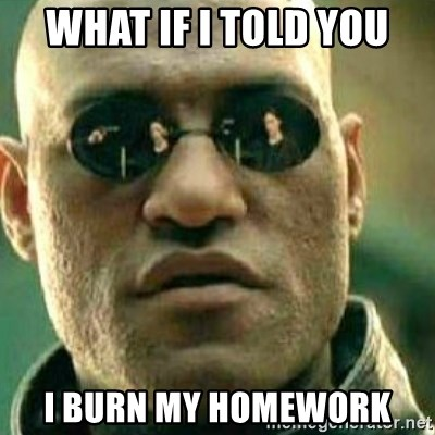 What If I Told You - What if i Told You I burn my homework