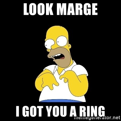 look-marge - look marge i got you a ring