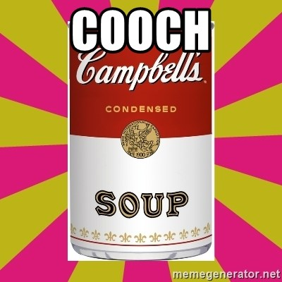 College Campbells Soup Can - Cooch